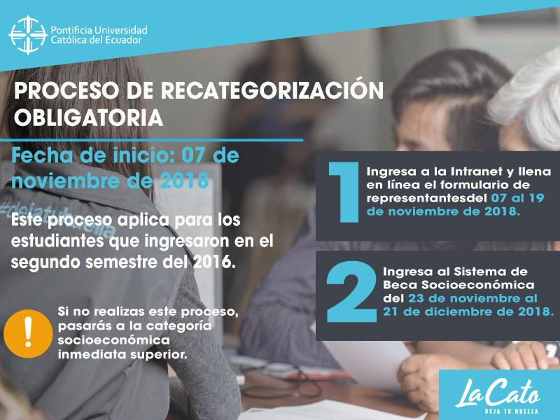 PROCESO DE RECATEGORIZACIÓN OBLIGATORIA