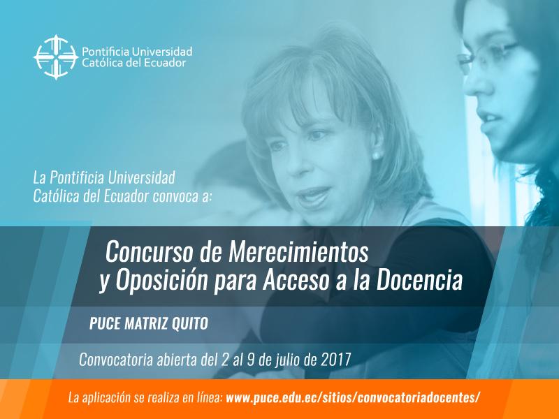 Concurso de Merecimientos para acceso a la Docencia